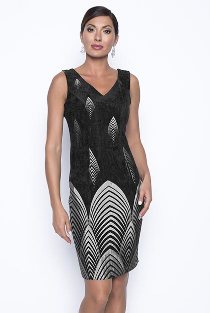 Frank Lyman 199282 black and grey woven dress